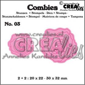 Combies Dies + Tampons Petites roses no 03 - Crealies