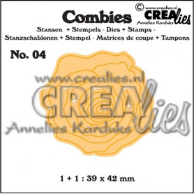 Combies Die + Tampon Rose no 04 - Crealies