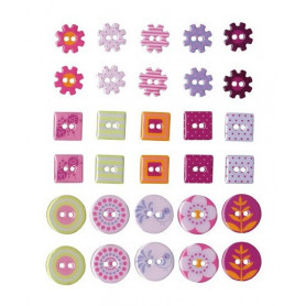 Boutons Epoxy Flowers 30 pc - Artemio