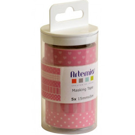 Masking Tape Lollipop Rose 5 x 5 m - Artemio