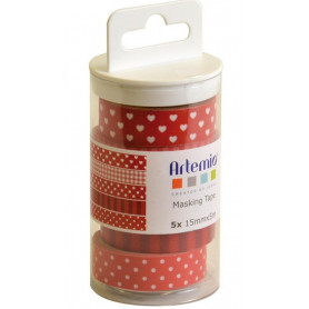 Masking Tape Lollipop rouge 5 x 5 m - Artemio