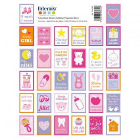 Stickers Timbres Girl - Artemio