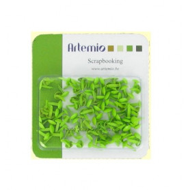 Mini Brads rond vert 100 pcs - Artémio