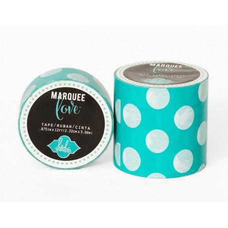 Masking Tape Vert à pois blanc 2,2 cm - Marquee Love - Heidi Swapp