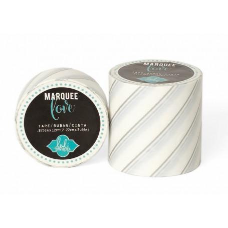 Masking Tape Rayures argentées 5,08 cm - Marquee Love - Heidi Swapp