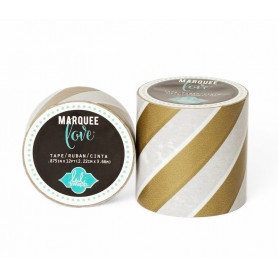 Masking Tape Rayures dorées 5,08 cm - Marquee Love - Heidi Swapp