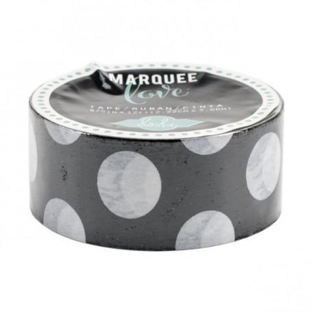 Masking Tape Noir à pois blanc 2,2 cm - Marquee Love - Heidi Swapp