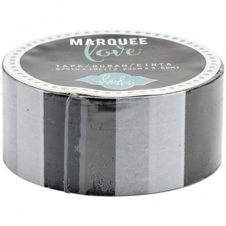 Masking Tape lignes noires 2,2 cm - Marquee Love - Heidi Swapp