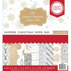 Set de papier 15x15 Shimmer Christmas 24f – Craft Smith