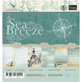 Set de papier 15x15 Sea Breeze 24f - Couture creations