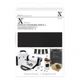 Feuilles adhésives Tableau noir A5 20pc - Xcut Xtra's Adhesive Chalkboard Sheets