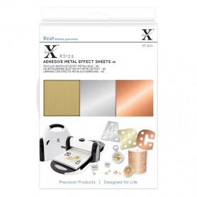 Feuilles adhésives métal A5 (20pc) - Xcut Xtra's Adhesive Metal Effects
