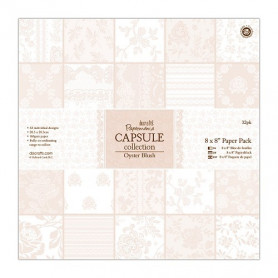 Set de papier 20x20 Oyster Blush 32f – Capsule Docrafts Papermania