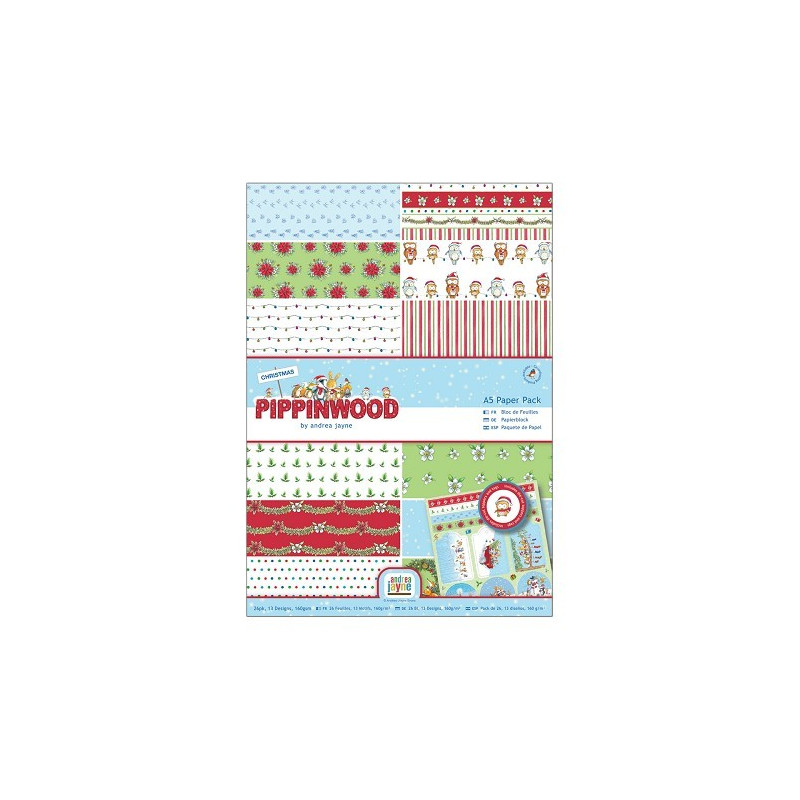Set de papier A4 Pippinwood Christmas 26f – Docrafts Papermania