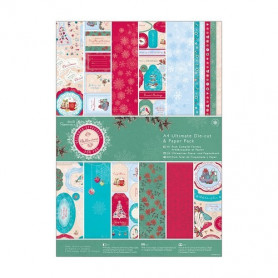 Set de papier et Die-cut A4 Bellissima Christmas 48f - Docrafts Papermania