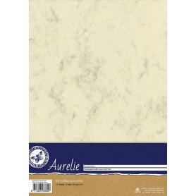 Set de papier A4 Metamorphic Marble Cream 10f – Aurelie