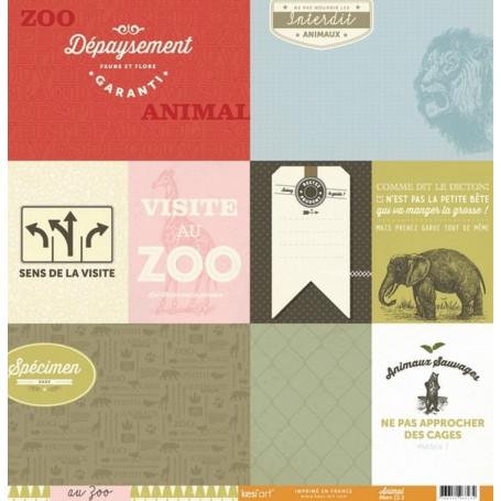 Papier 30x30 Animal 1f - Collection Au Zoo Kesi'art