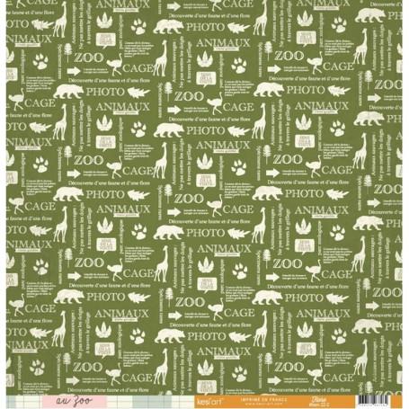 Papier 30x30 Flore 1f - Collection Au Zoo Kesi'art