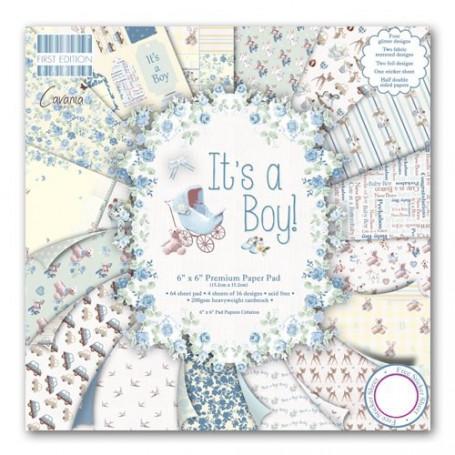 Set de papier 15x15 It's a Boy (64f) – First Edition Paper