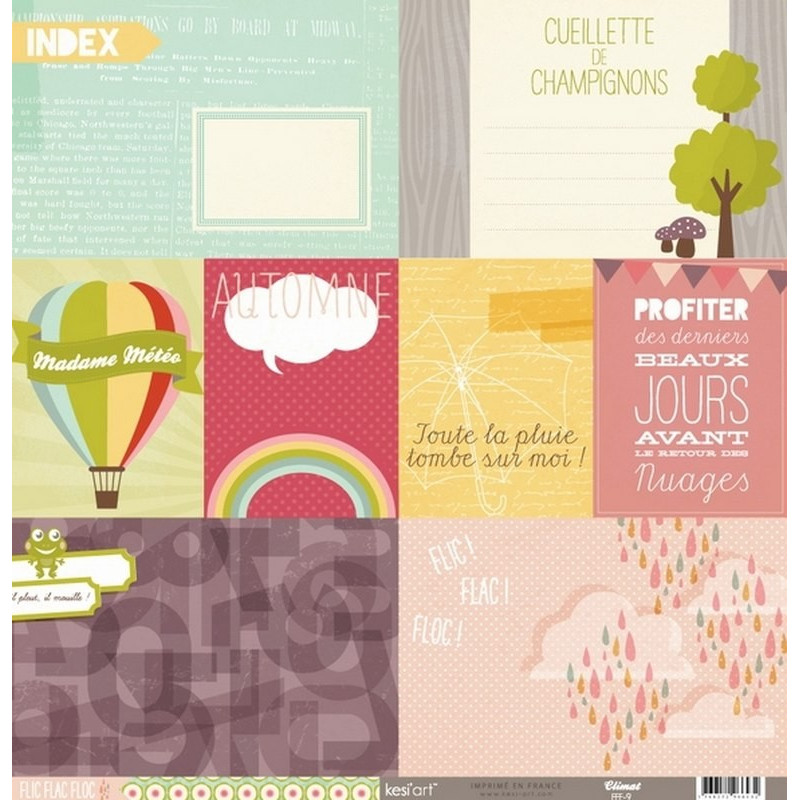 Papier 30x30 Climat 1f - Collection Flic Flac Floc Kesi'art