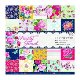 Set de papier 15x15 Simply Floral 32f - Docrafts Papermania