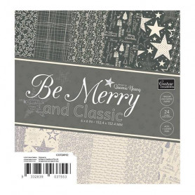 Set de papier 15x15 Be Merry and Classic 24f - Couture creations