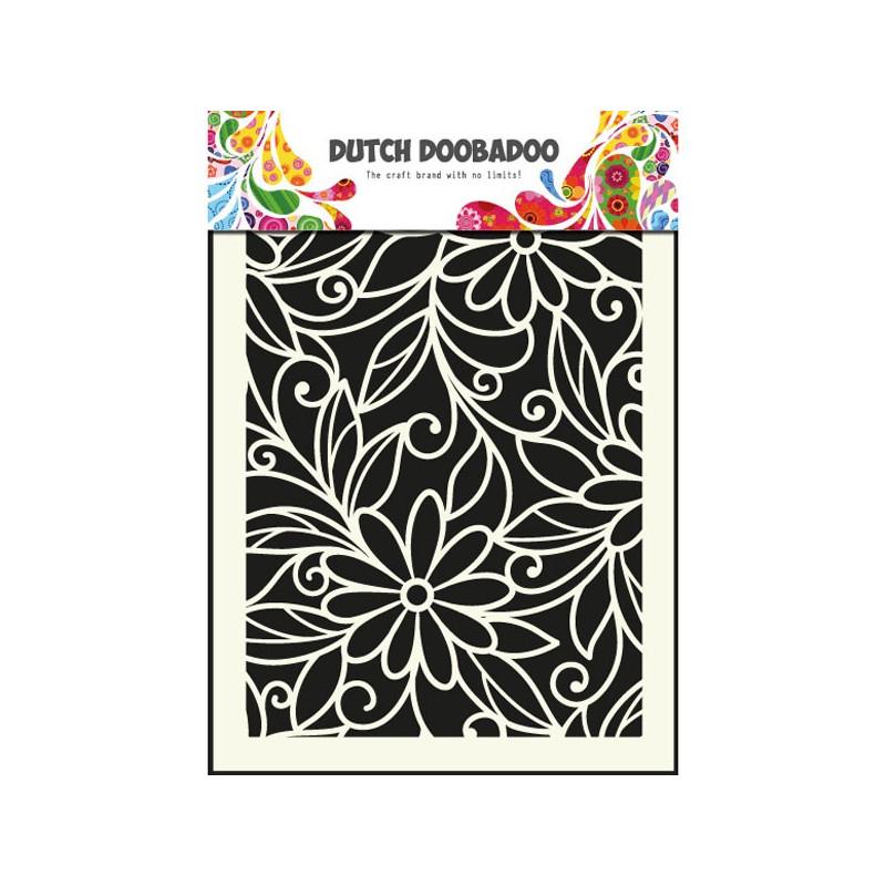 Pochoir A5 Fleurs – Dutch Doobadoo