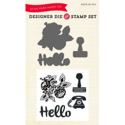 Die & stamp set Hello again - Echo Park