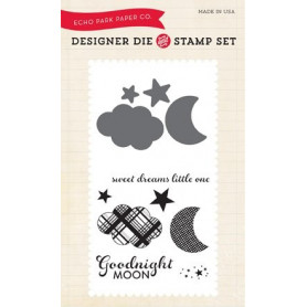 Die & stamp set Bundle Of Joy 2 Boy Goodnight Moon - Echo Park