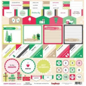 Papier 30x30 Accents 1f – Happy Holidays Scrapberry's