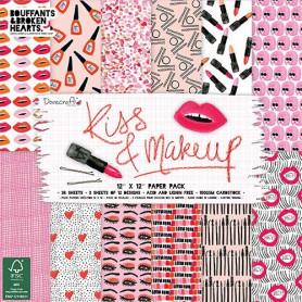 Set de papier 30x30 Kiss & Makeup 36f – Dovecraft