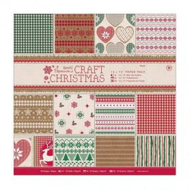 Set de papier 30x30cm Craft Christmas 32f - Docrafts Papermania
