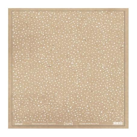 Crystal transparent 30x30 Pois blanc 1f –  Swirlcards