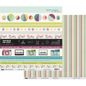 Papier 30x30 Confettis Rayé 1f – Swirlcards