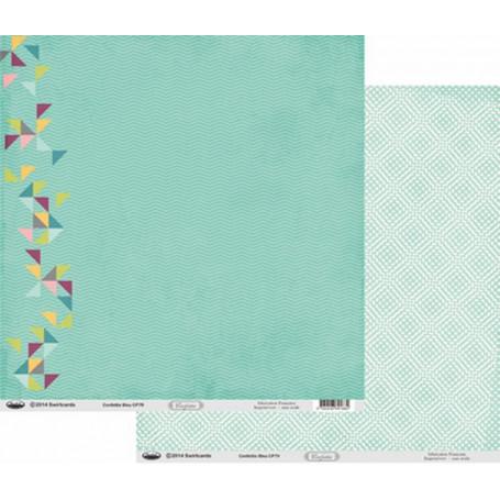 Papier 30x30 Confettis Bleu 1f –  Swirlcards