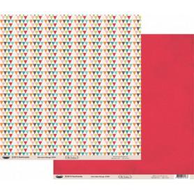 Papier 30x30 Eté indien rouge 1f – Swirlcards