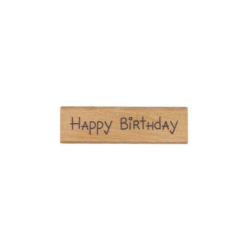 Tampon bois Happy Birthday – Me To You