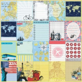 Papier 30x30 Bright Impressions 1f – Collection Around the World ScrapBerry's