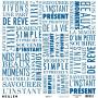 Papier calque 30x30 Typo bleu éléctrique 1f – Kesi'art