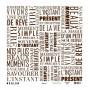 Papier calque 30x30 Typo marron 1f – Kesi'art