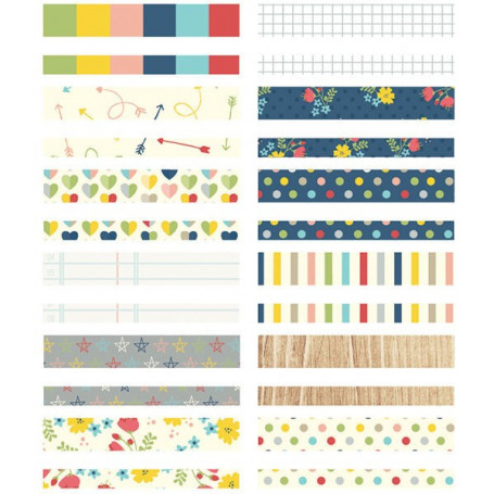 Designer Washi Paper Tape Life documented 288 pc - Simple Stories