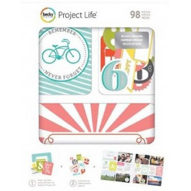 Cartes Project Life Embossed 98 pcs - Becky Higgins