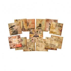 Set de papier 30x30 Belle Epoque 12f - IndigoBlu
