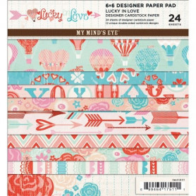 Set de papier 15x15 Lucky in Love 24f - My Mind's Eye