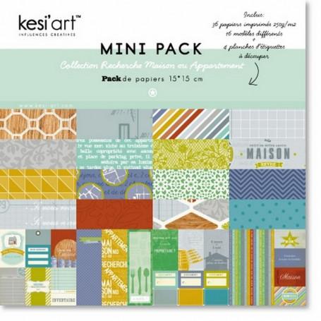 Set de papier 15x15 Recherche Maison 36f - Kesi'art