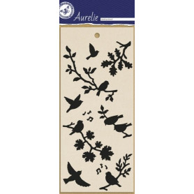 Pochoir Singing Birds - Masking Stencil – Aurelie