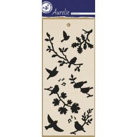 Pochoir Singing Birds - Masking Stencil – Aurelie