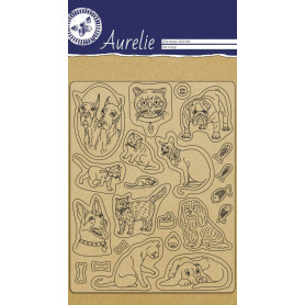 Tampons Cats & Dogs - Clear Stamp Aurelie