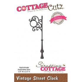 Die Lampadaire - CottageCutz - Scrapping Cottage Die Vintage Street Clock