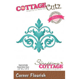Die Corner Flourish - CottageCutz - Scrapping Cottage Die